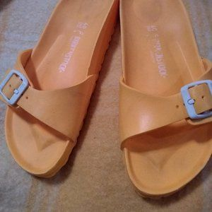 Birkenstock MADRID EVA Yellow Buckle Sandals SZ 9